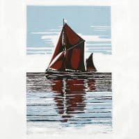 Thames Sailing Barge A3 Print | Limited Edition | Richard Juniper